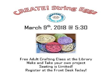 String Egg Crafting Class