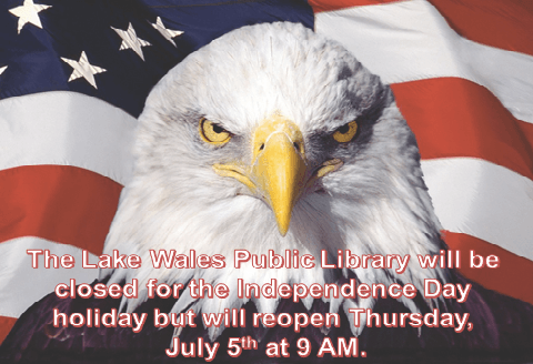 Library closed for July 4th holiday