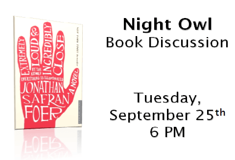 September Book Club Night