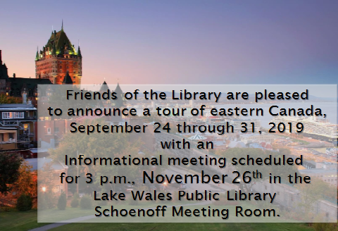 Canada Tour Info Meeting