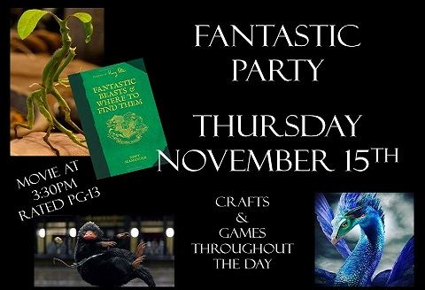 Fantastic Beast Party Nov 2018