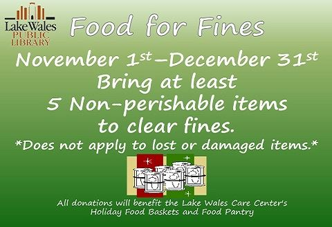Food for fines Fall 2018