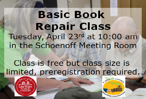 April Book Repair Class