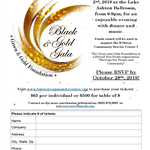 Event and Ticket Flyer, 2019 Black and Gold Gala