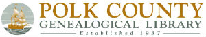 Polk County Genealogical Library Established 1917 Logo