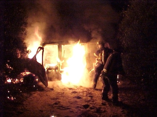 Van Fire January 18, 2002